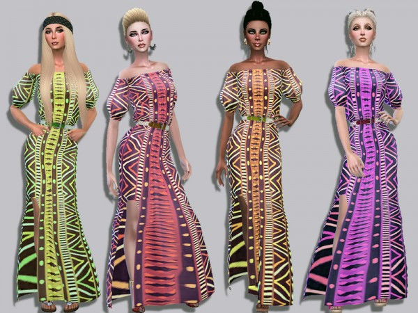 The Sims Resource: Hermione dress by Simalicious