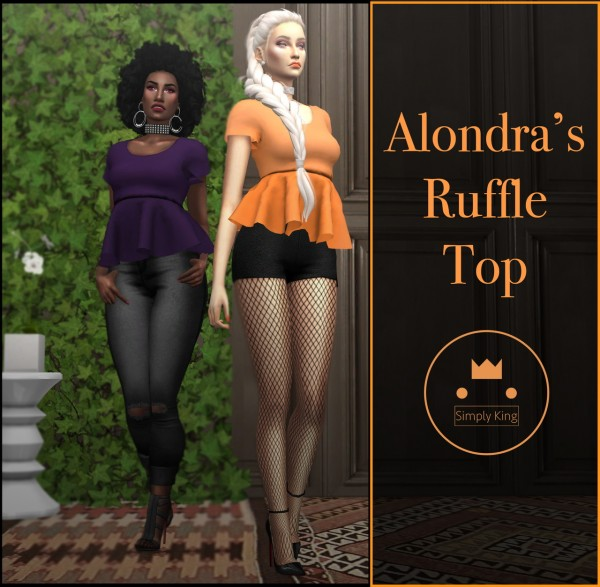Simply King: Alondra's Ruffle Top