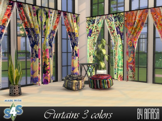 Aifirsa Sims: Curtains 3 colors