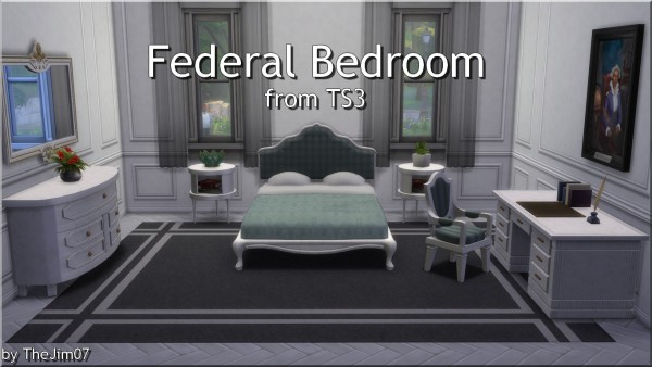 Mod The Sims: Federal Bedroom converted by TheJim07