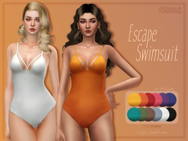 The Sims Resource: Escape Swimsuit by Trillyke
