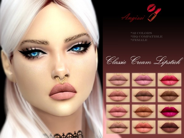 The Sims Resource: Classoc cream lips by ANGISSI