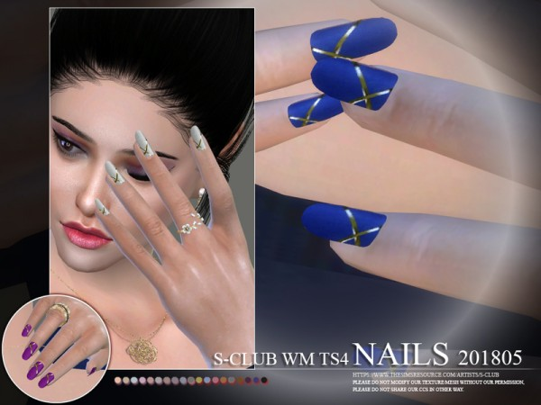 The Sims Resource: Nails 201805 by S club