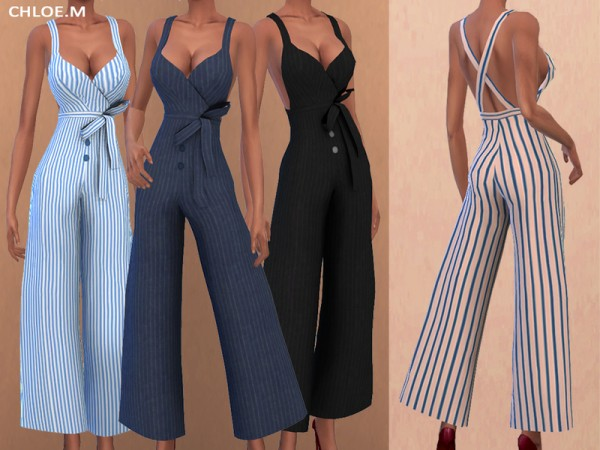 The Sims Resource: Jumpsuit with bowknot by ChloeMMM
