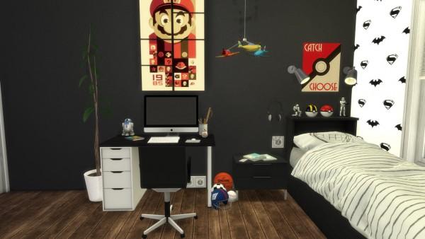 Models Sims 4: Boys bedroom Family house