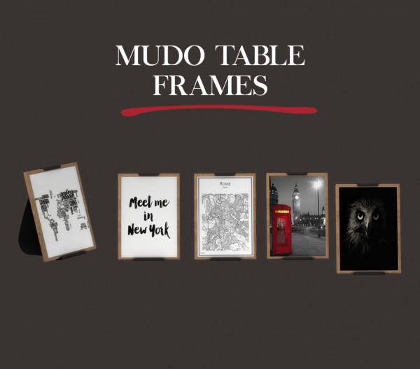 Leo 4 Sims: Mudo table frames
