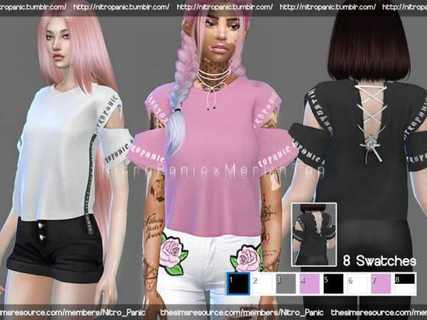 The Sims Resource: Merlin Top by NitroPanic