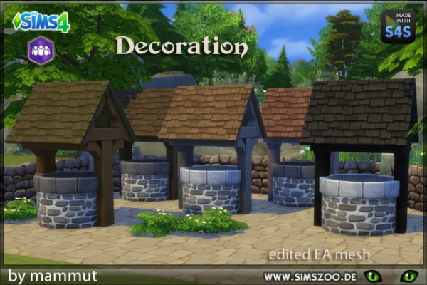 Blackys Sims 4 Zoo: Deco fountain by mammut