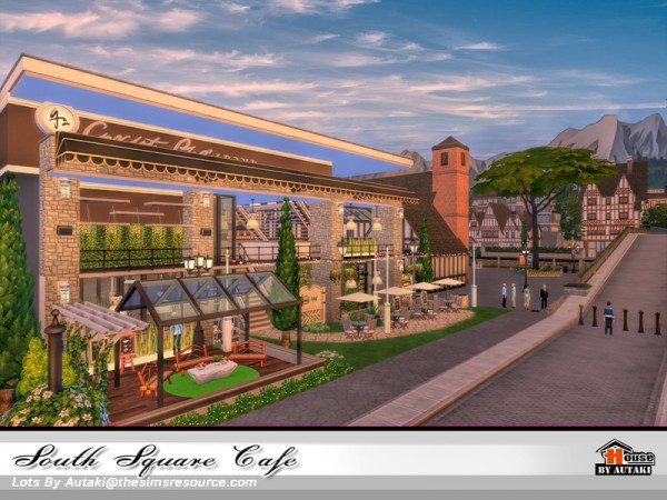 The Sims Resource: South Square Cafe by autaki
