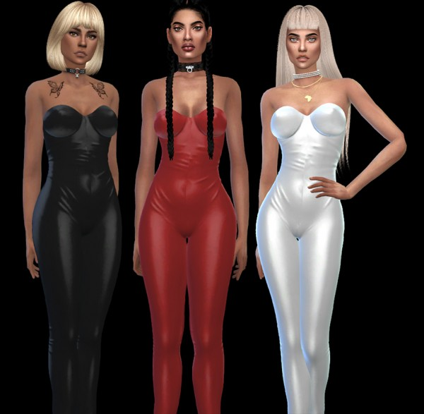 Leo 4 Sims: Evie jumpsuit recolored