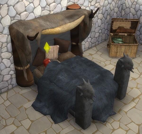 Simsworkshop: Dragon Age Avvar Bed 1 by BigUglyHag