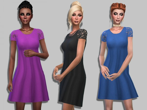 The Sims Resource: Elise dress by Simalicious