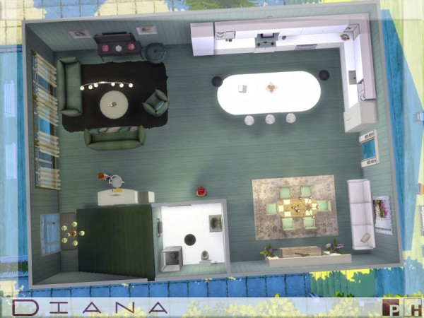 The Sims Resource: Diana house by Pinkfizzzzz