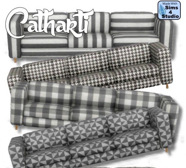 All4Sims: Livingroom Catharti sofa by Oldbox