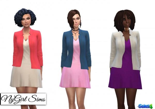 NY Girl Sims: Flare Dress with Blazer