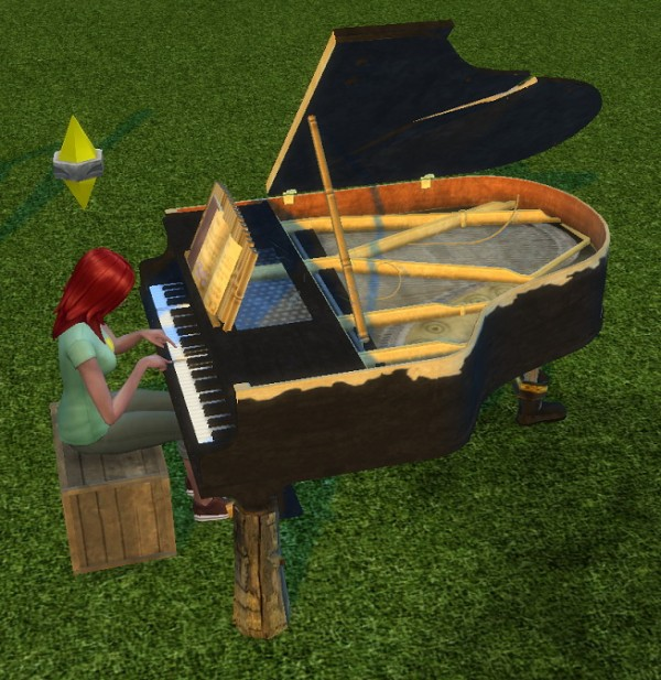 Simsworkshop: Stuck Tuna Grand Piano by BigUglyHag