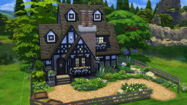 Luniversims: Tudor cottage by TheDismalSimmer