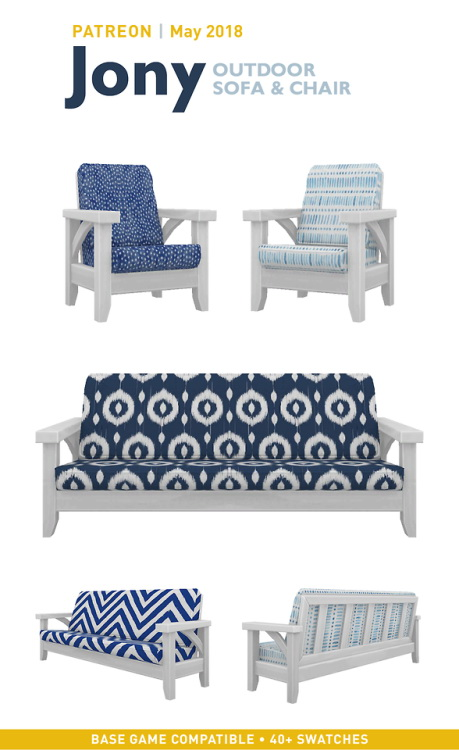 Simplistic: Jony Outdoor Sofa and Chair