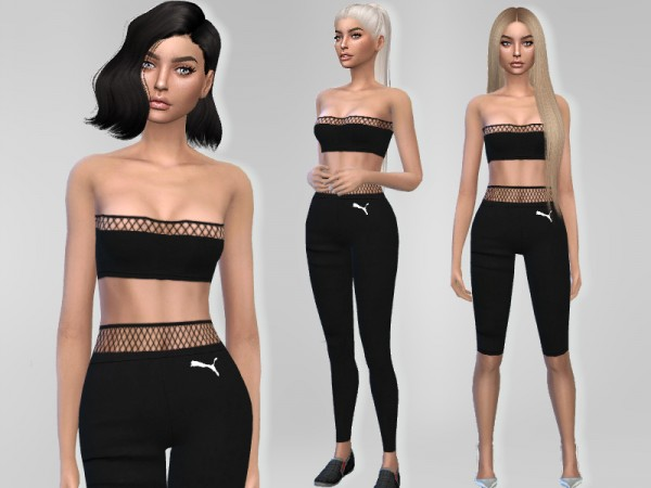 The Sims Resource: Fishnet Outfit by Puresim