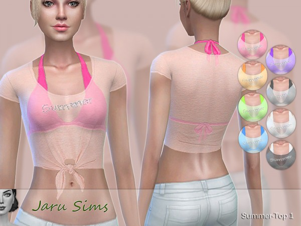 The Sims Resource: Summer Top 1 by Jaru Sims
