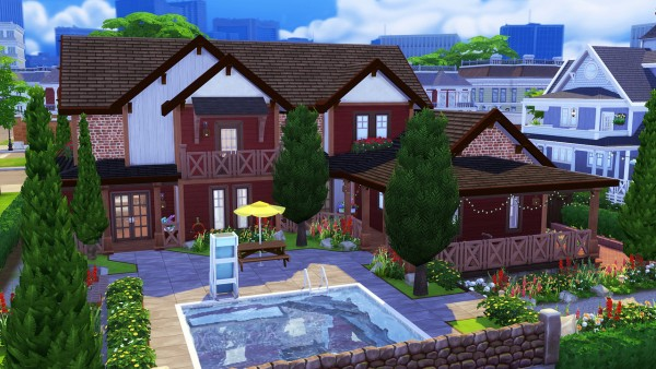 Aveline Sims: Warm Rustic Family Home