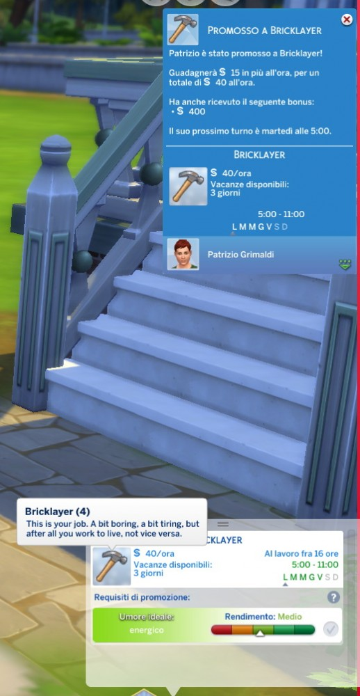 Mod The Sims: Manual Laborer Career by Daleko