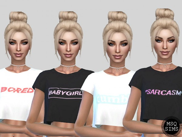 MSQ Sims: Sandy T Shirt Collection