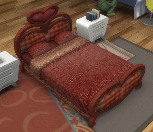 Simsworkshop: More Romantic than You Double Bed by BigUglyHag