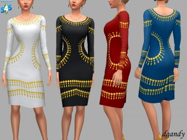 The Sims Resource: Formal dress Jamie by dgandy