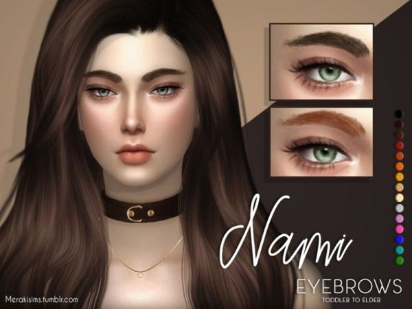 The Sims Resource: Nami eyebrows by MerakiSims