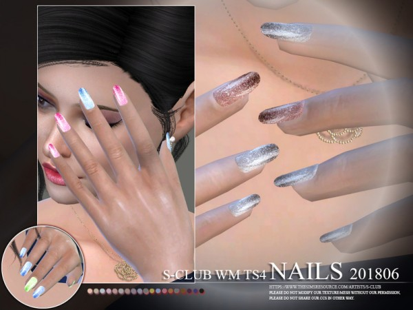 The Sims Resource: Nails 201806 by S Club