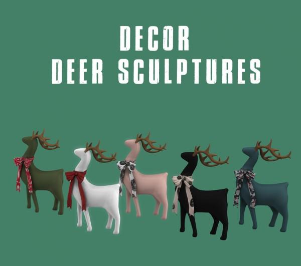 Leo 4 Sims: Deer sculpture