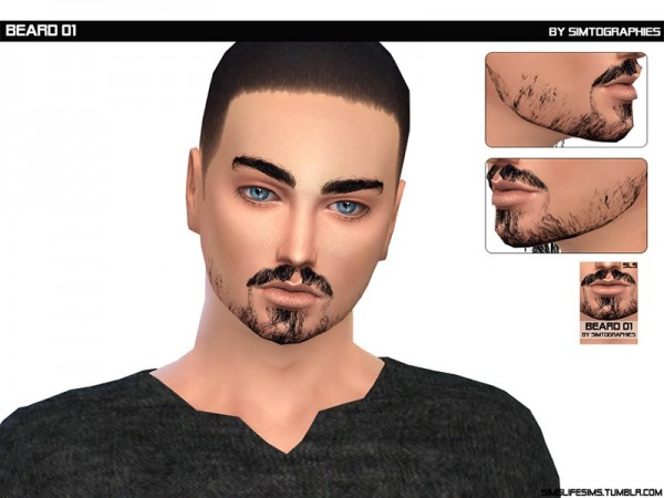 The Sims Resource: Beard 01 by simtographies