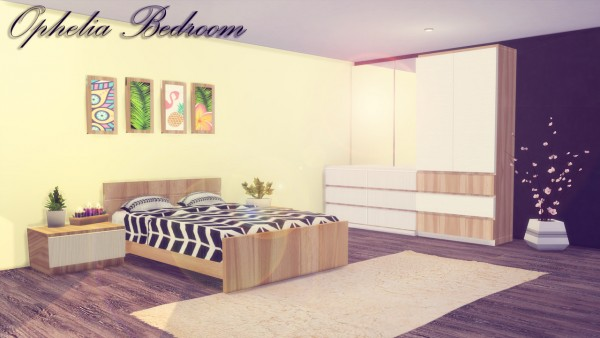 Simming With Mary: Ophelia Bedroom