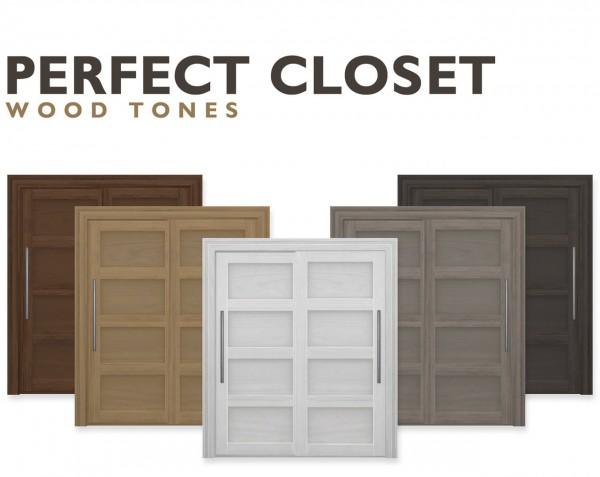 Simplistic: Perfect Closet: Wood Tones