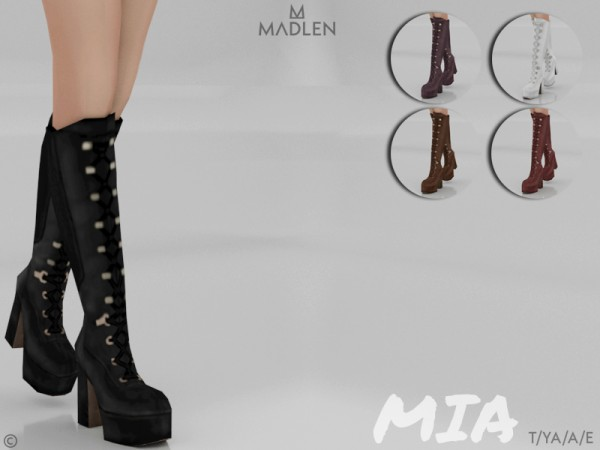 The Sims Resource: Madlen Mia Boots by MJ95