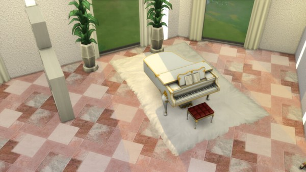 La Luna Rossa Sims: Marble and Tiles Combination