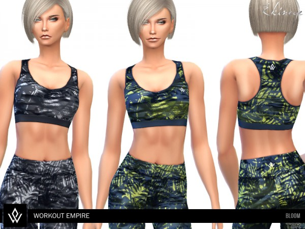 The Sims Resource: Workout Empire Bloom Bra by ekinege
