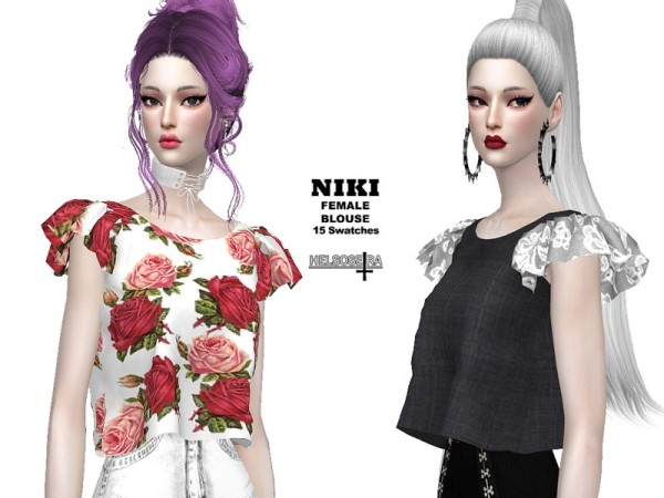 The Sims Resource: Niki Blouse by Helsoseira