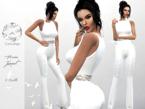 The Sims Resource: Heroina Jumpsuit by Camuflaje