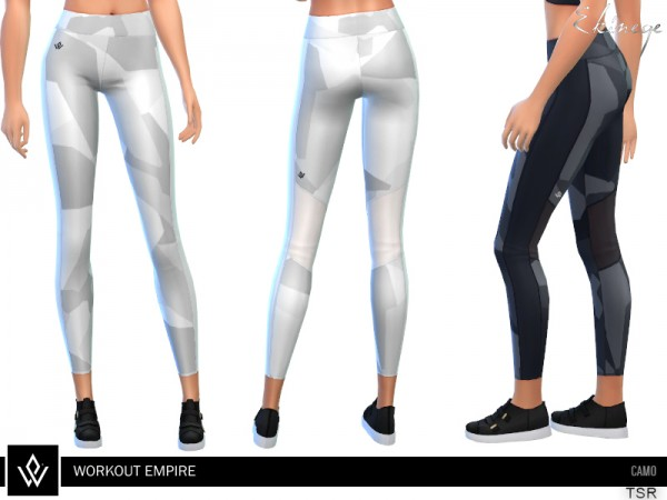 The Sims Resource: Workout Empire Camo Tights by ekinege