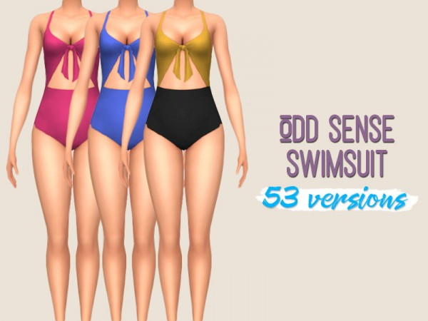 Simsworkshop: Odd Sense Swimsuit by midnightskysims