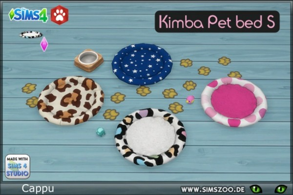 Blackys Sims 4 Zoo: Kimba Pet bed S by cappu