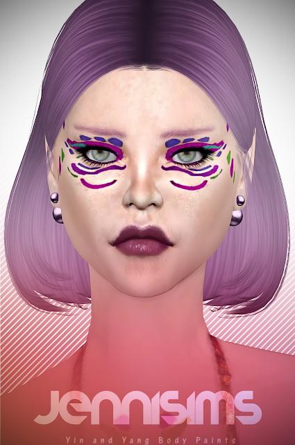Jenni Sims: Yin andYang Body Paints