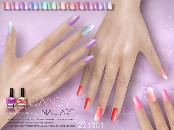 The Sims Resource: Nails 201801 by S Club