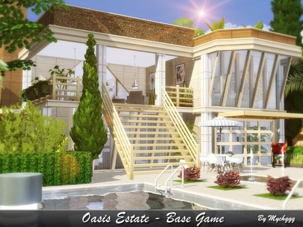 The Sims Resource: Oasis Estate by MychQQQ