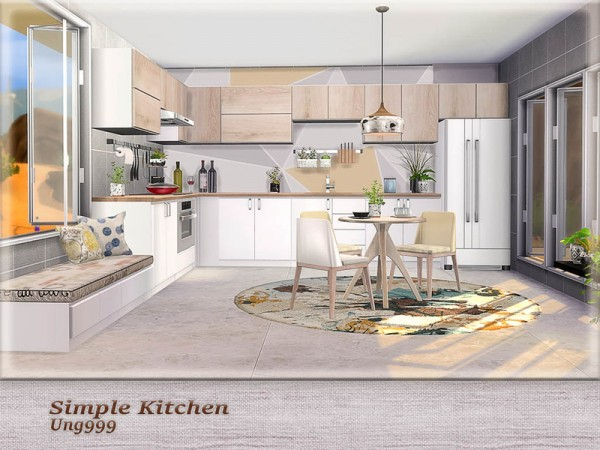 The Sims Resource Simple Kitchen Pt 1 By Ung999 Sims 4