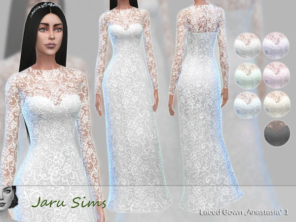The Sims Resource: Laced Gown Anastasia 1 by Jaru Sims