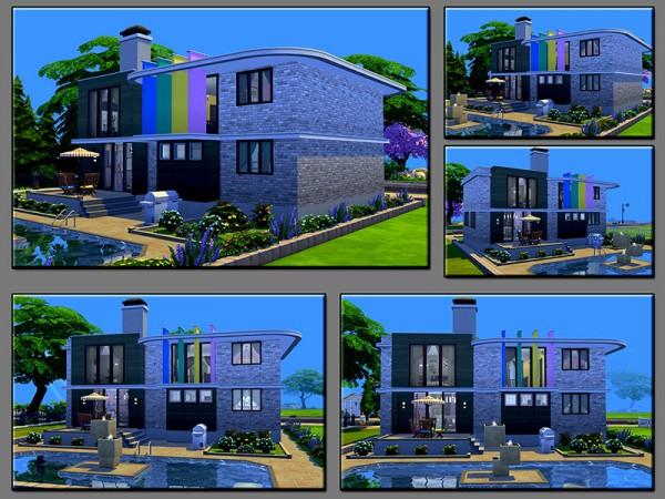 The Sims Resource: Rainbow House by matomibotaki