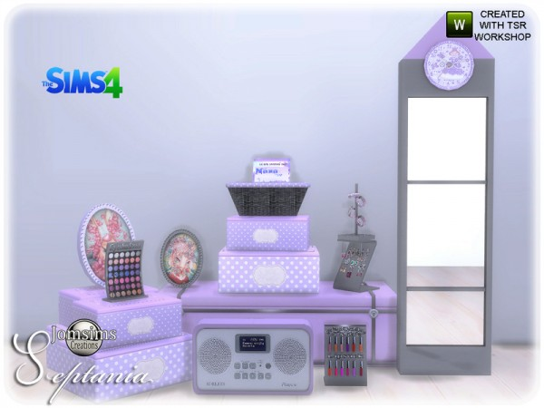 The Sims Resource: Septania bedroom decorations by jomsims